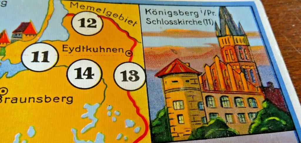 Ostpreußen auf alten Brettspielen